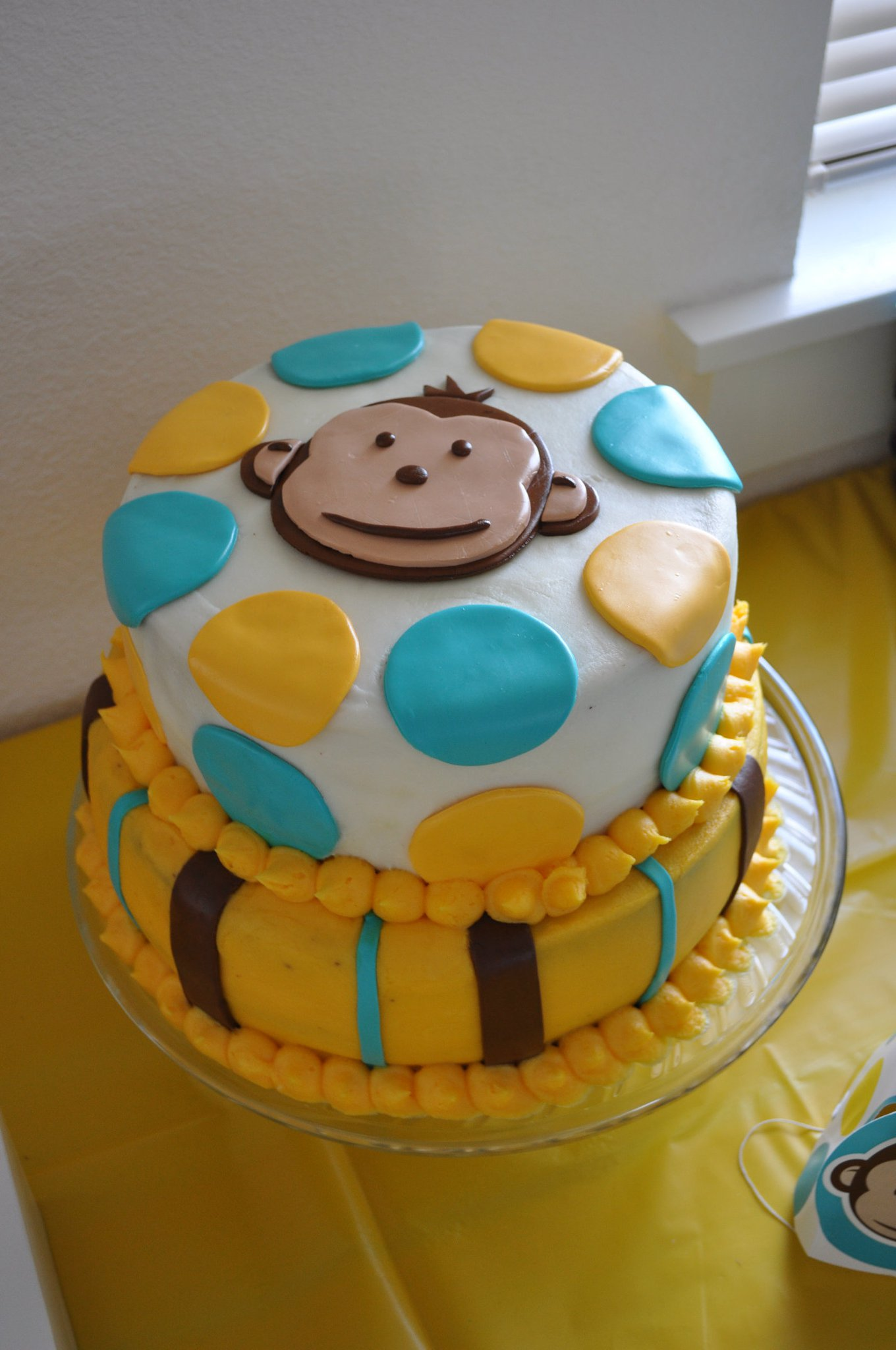 first cake was made for the first birthday of a very sweet little boy ...